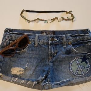 VS Pink denim cutoff shorts - size 4